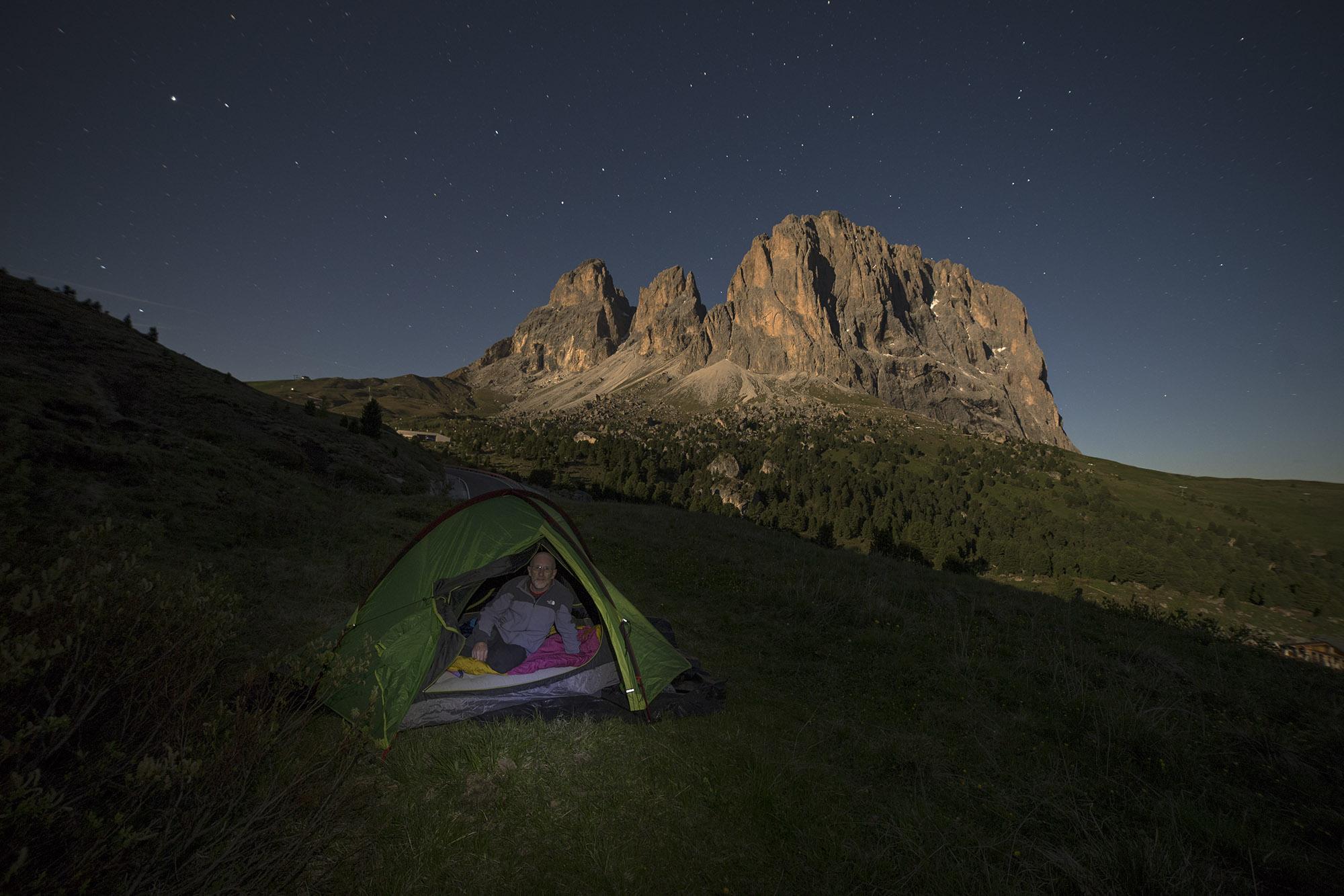Sassolungo nightscape, Italy