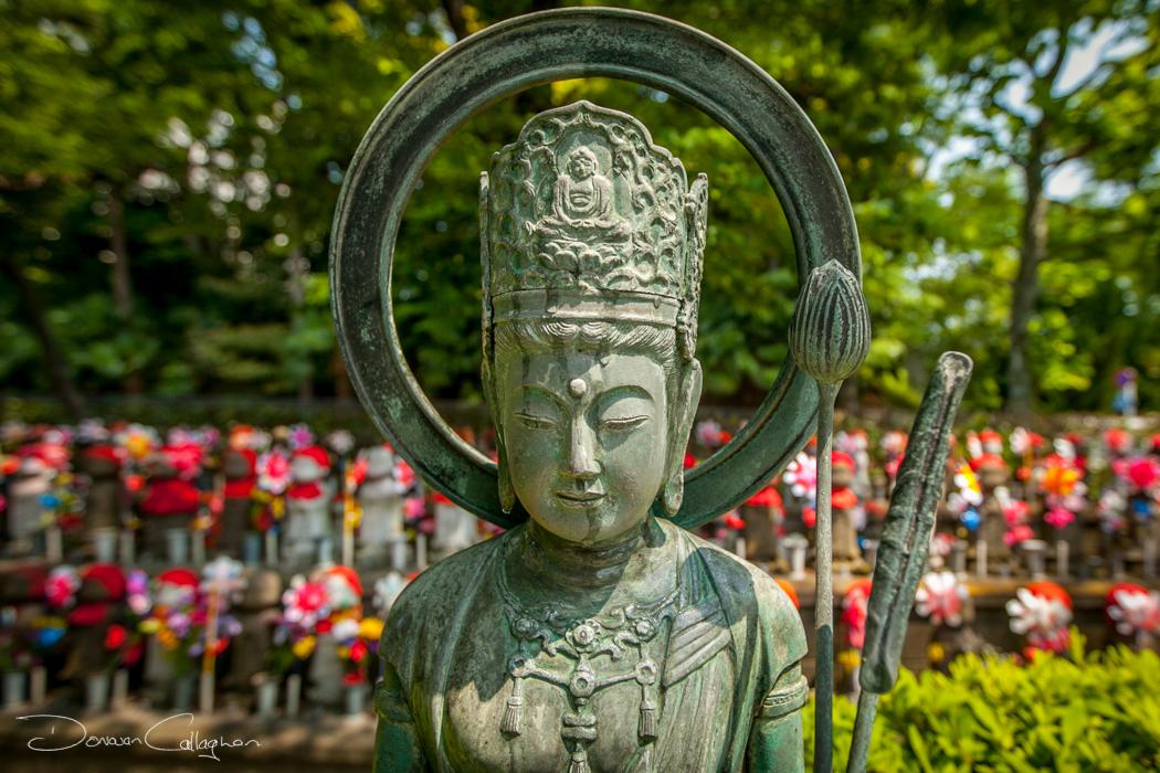 Statue Zojo-ji Temple Cemetery Tokyo, Japan