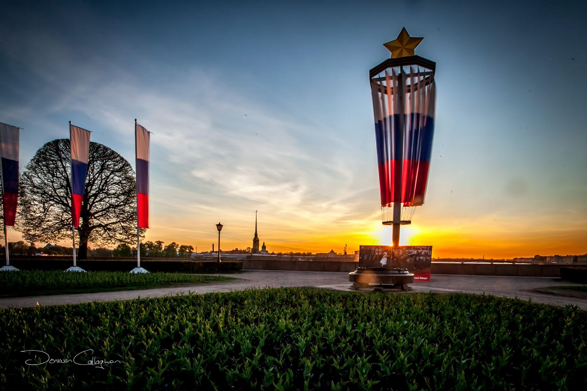 Sunrise Vasilievski Island, Waterfront, Saint Petersburg, Russian Federation