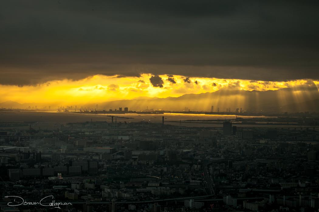 Sunset from the 60th floor osaka, Japan