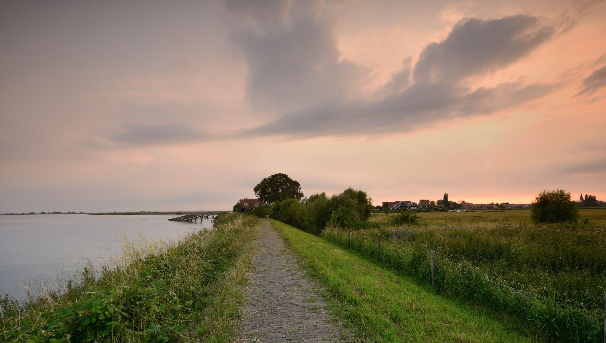 Sunset on Marken, Netherlands