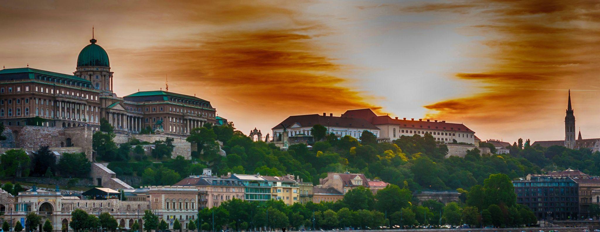 Sunset over the Royal Palace, Hungary
