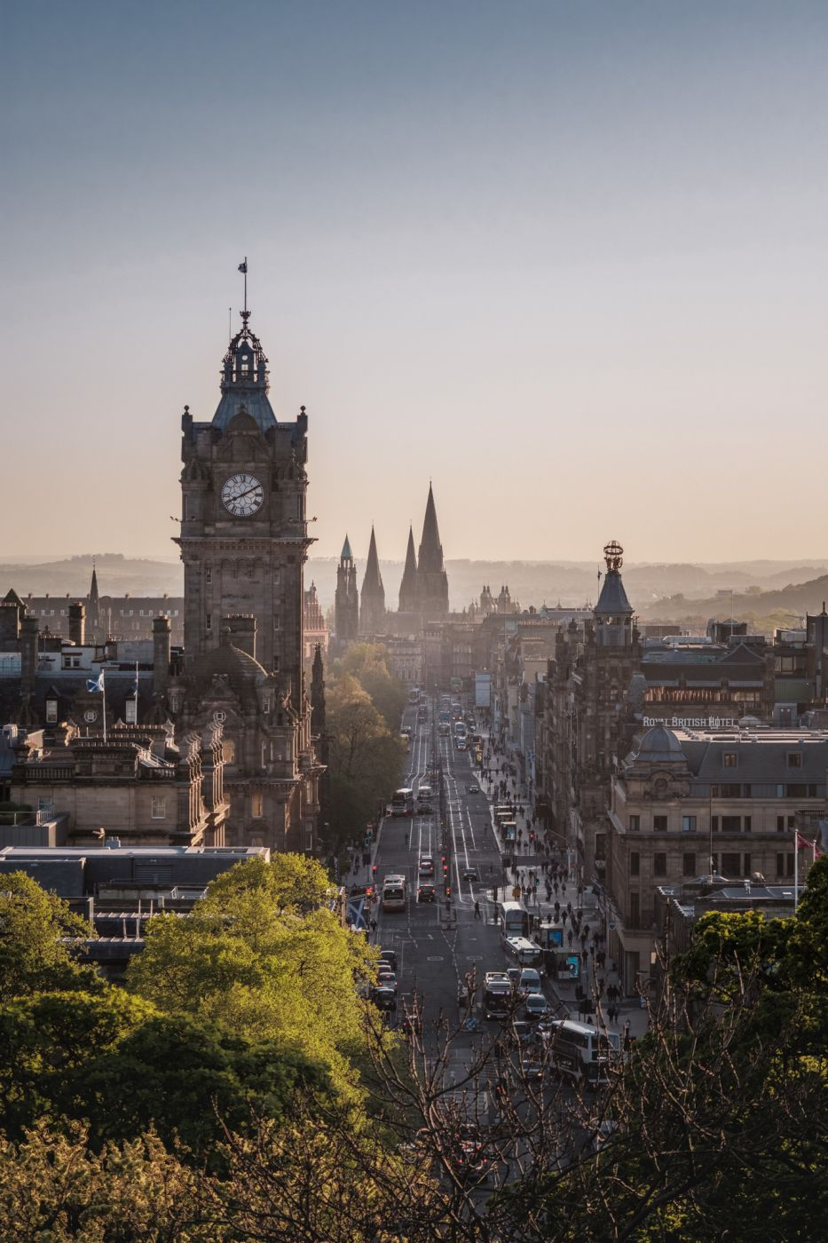 The Balmoral on Princes Street, View from Calton Hill, United Kingdom