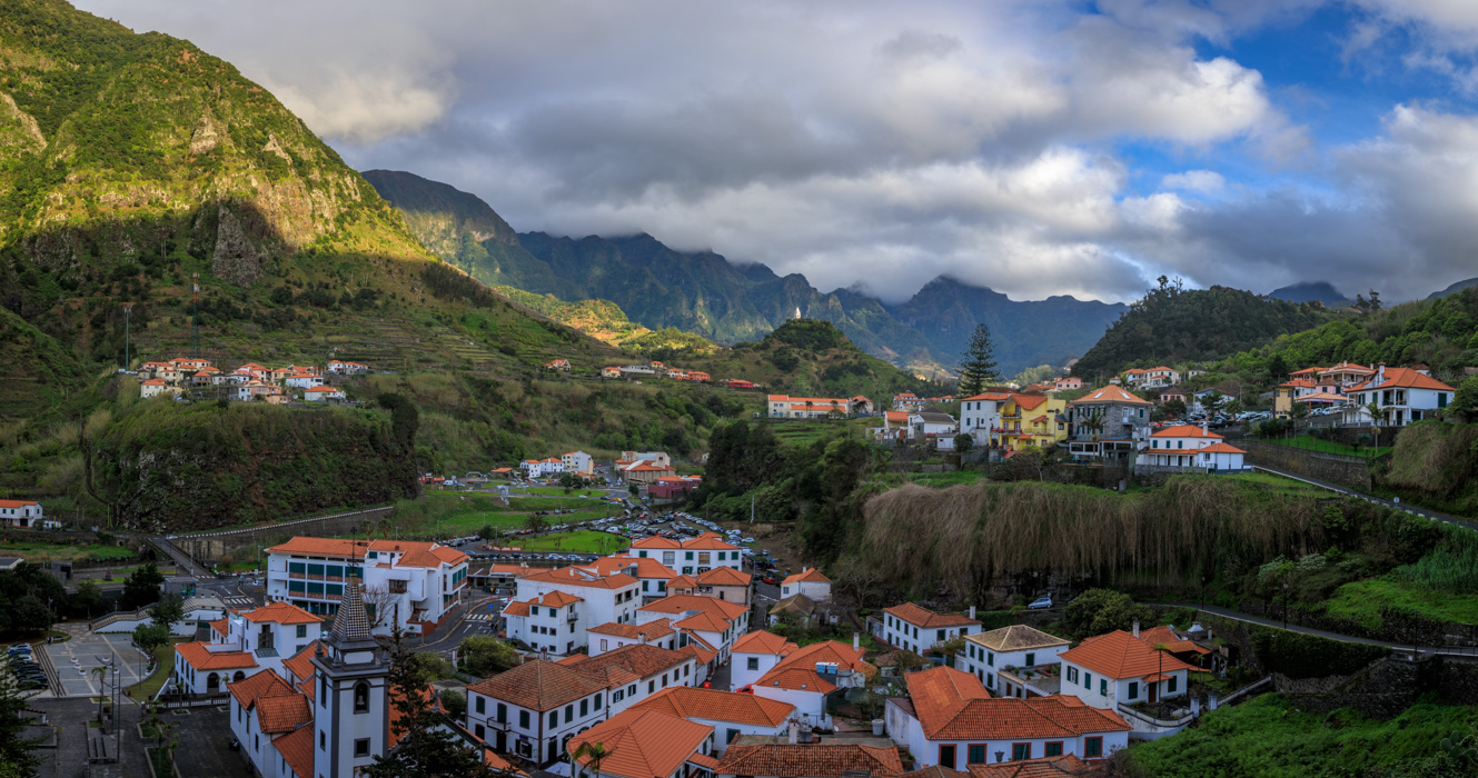 Village of Sao Vicente on the Island of Madeira, Portugal