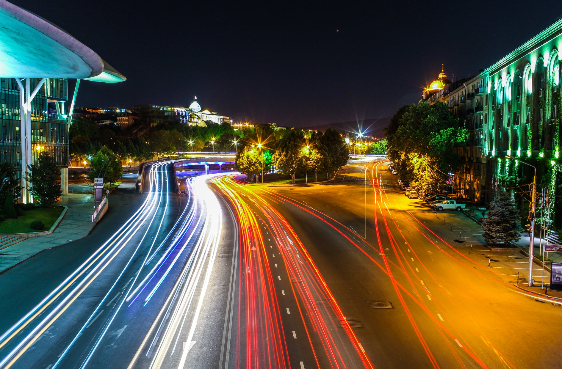Car Light Trails, Georgia