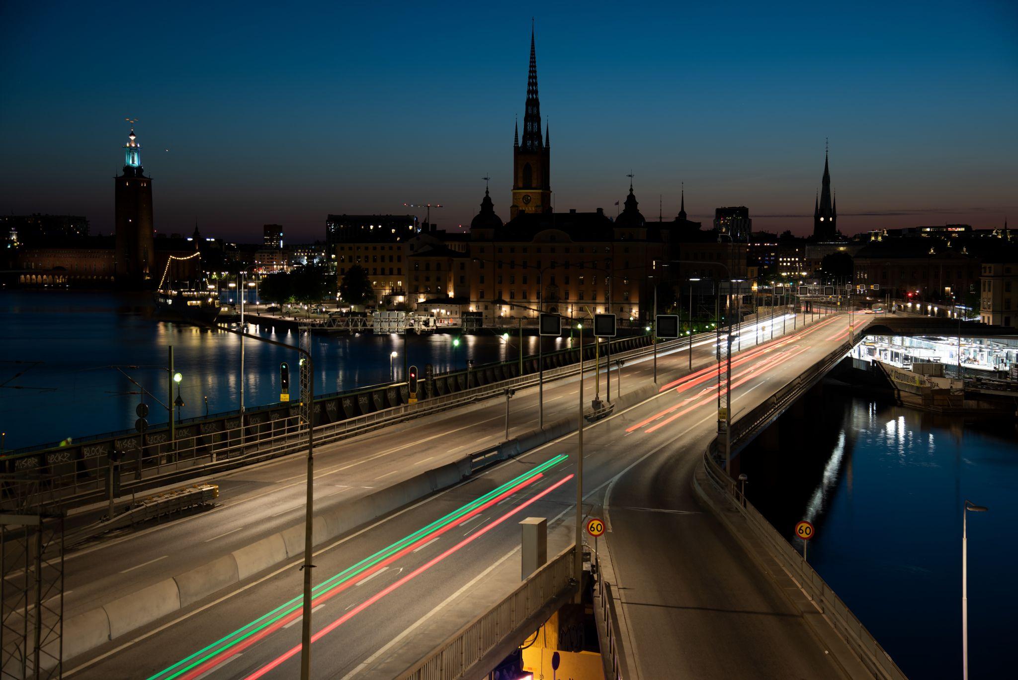 Centralbron overlooking Riddarlhomen, Stockholm, Sweden