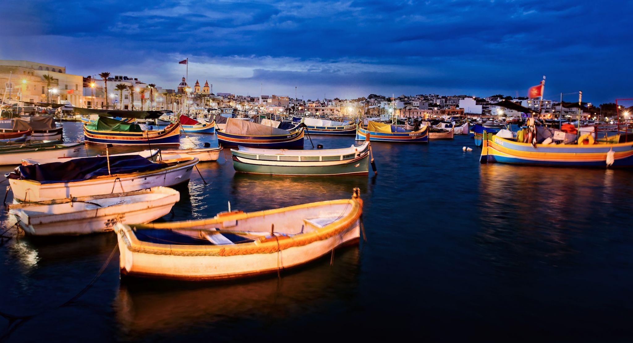 Harbor Marsaxlokk, Malta