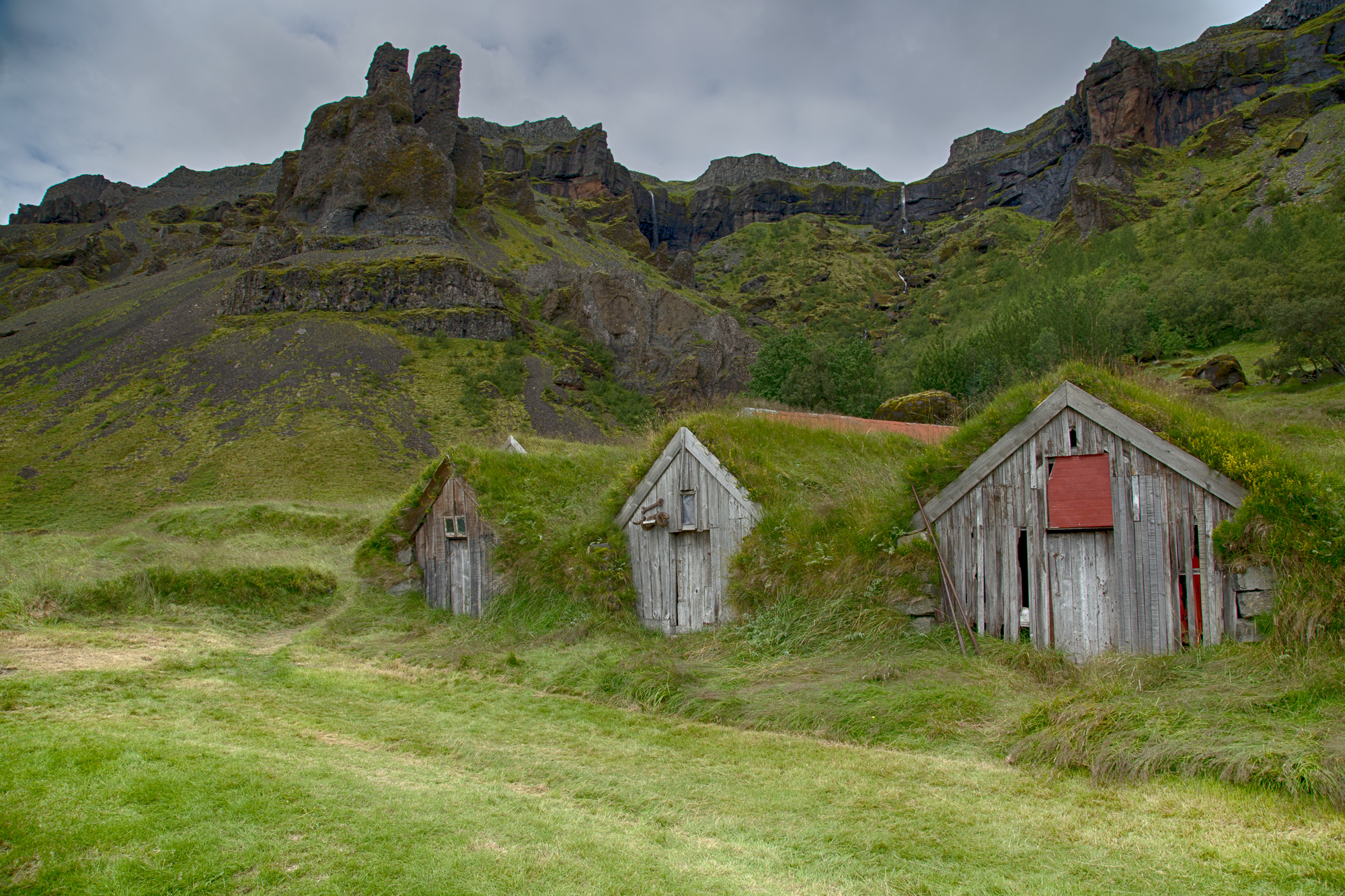 House with grass roof, Iceland