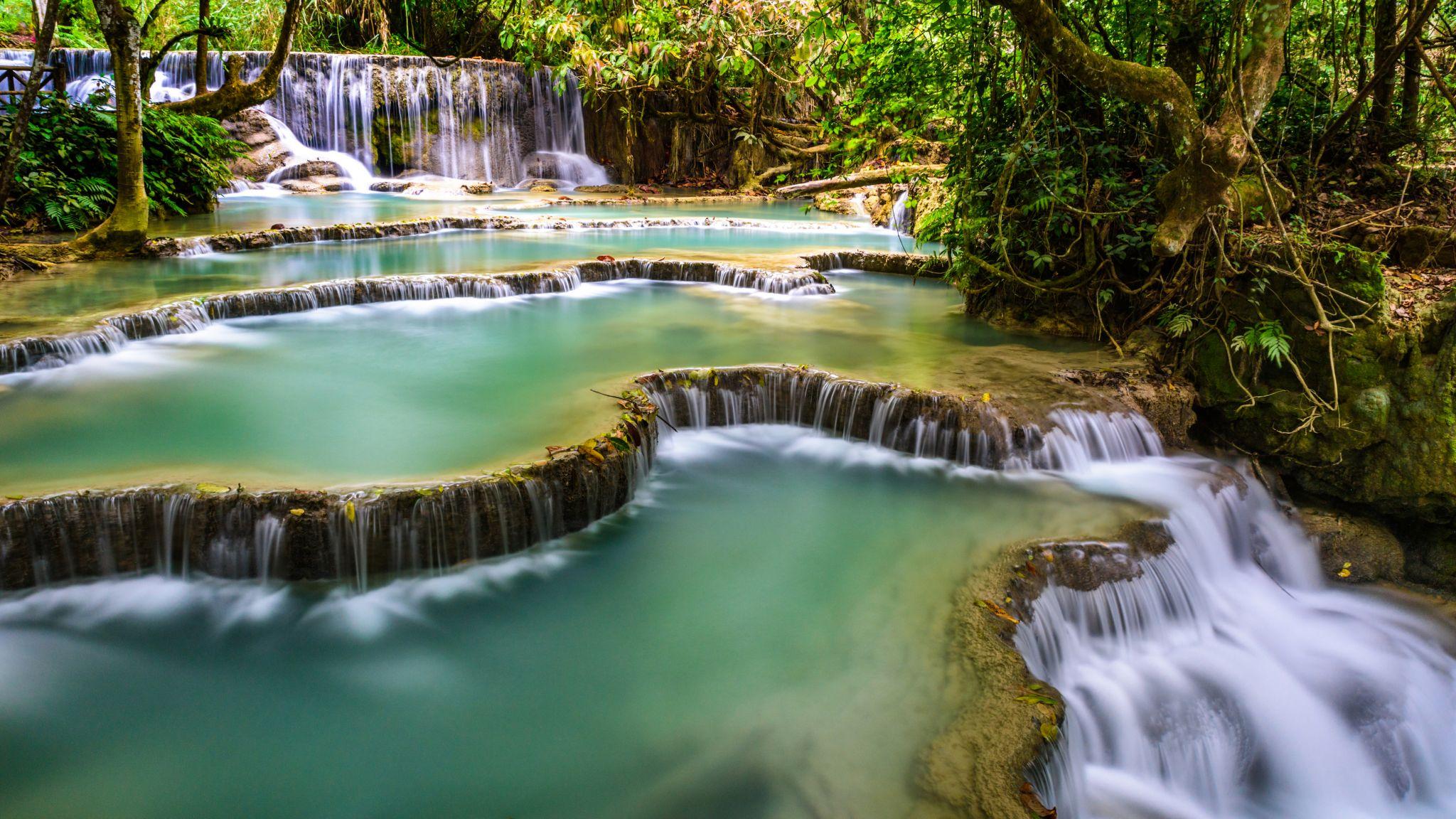 Lower Kuang Si Falls, Lao
