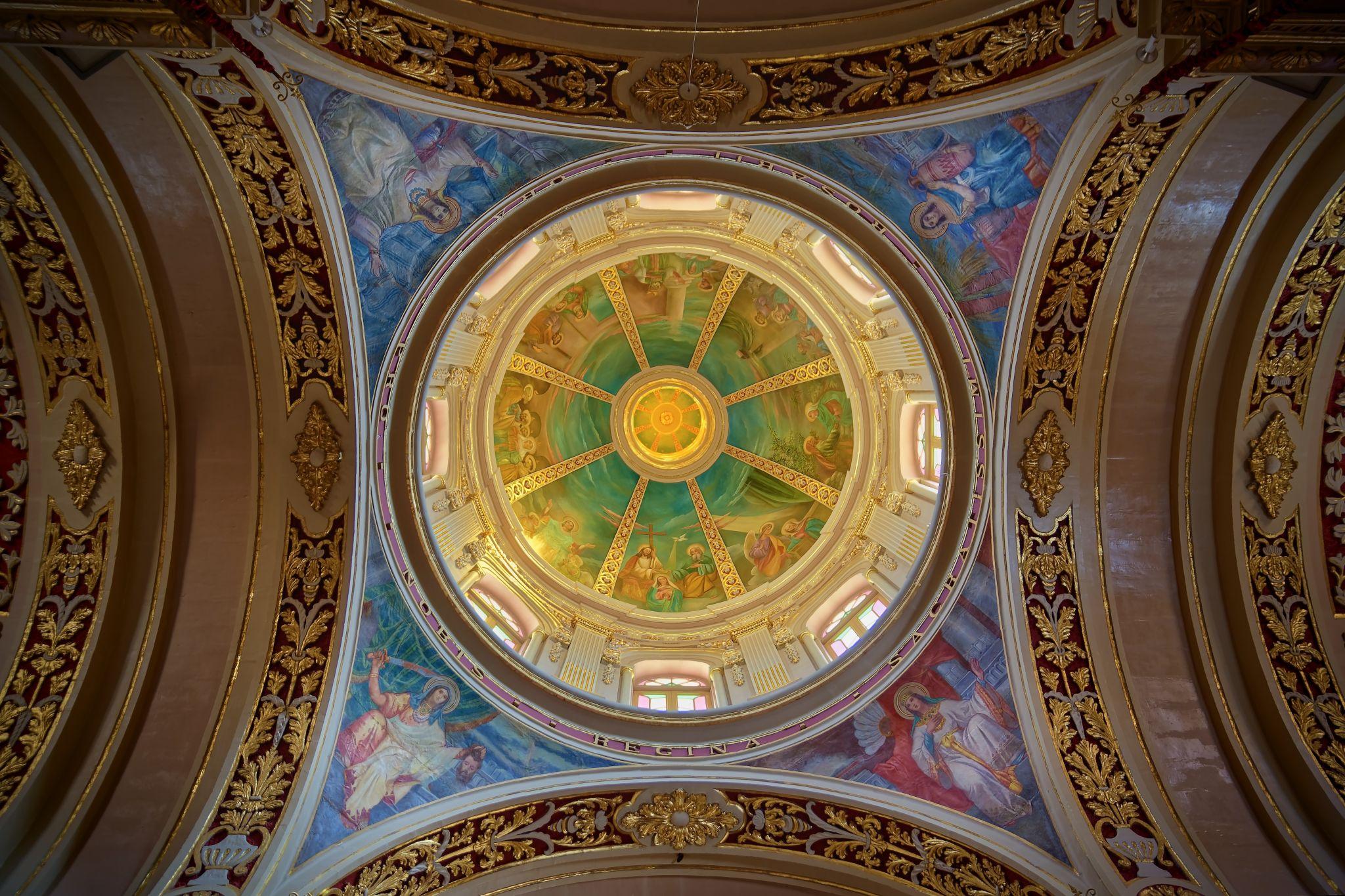Main dome Parish Church Marsaxlokk, Malta