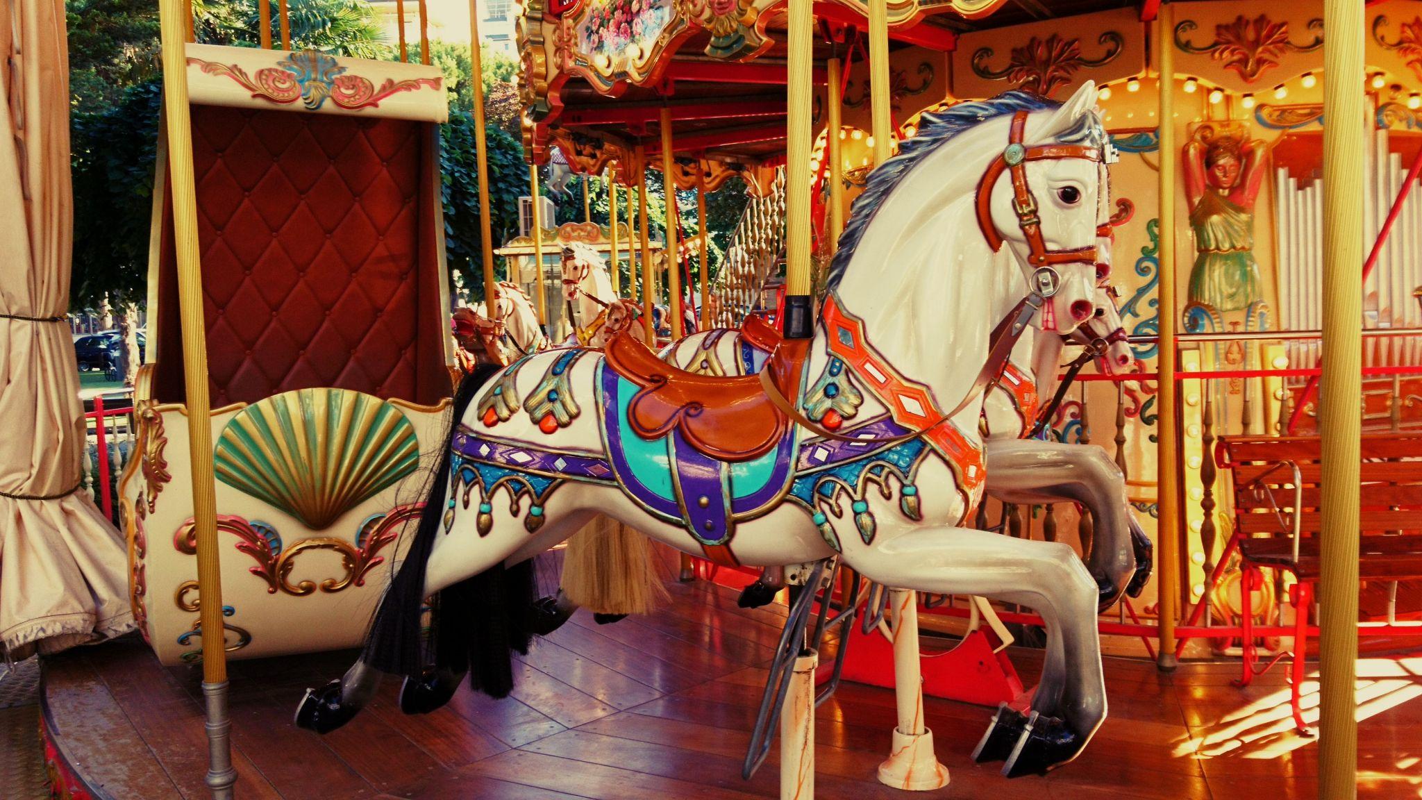 Old carousel, Lignano, Italy