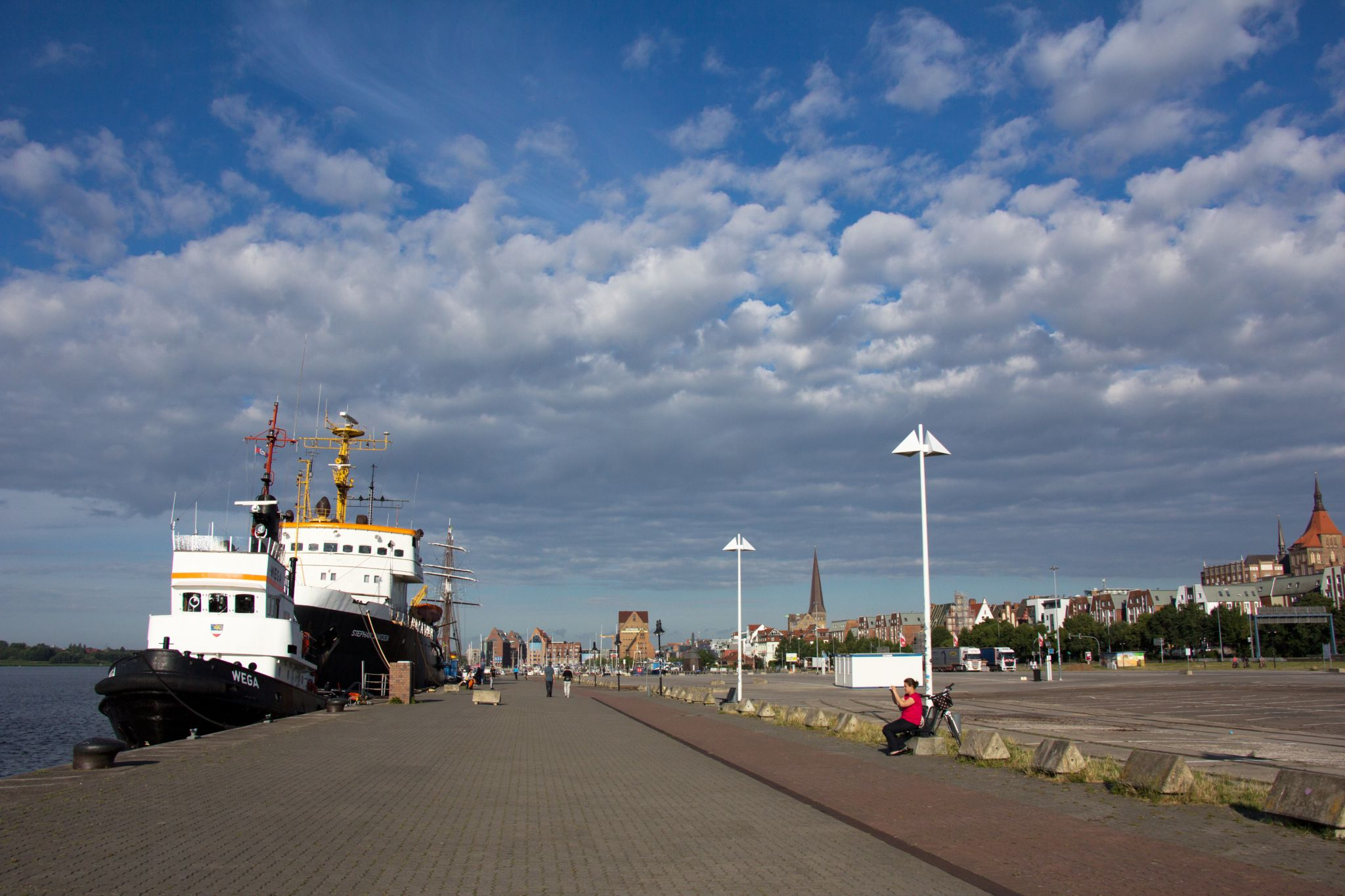 Rostock waterfront, Germany