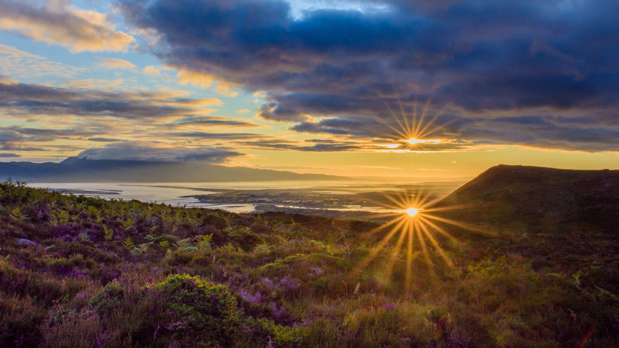 Sunrise over Castlemaine Harbour, Ireland