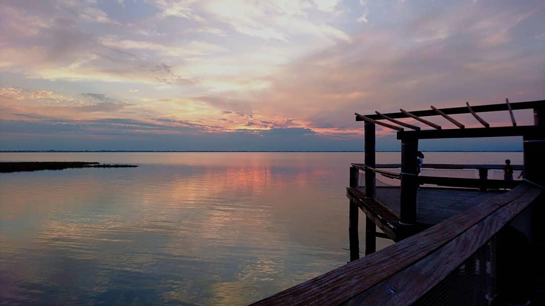Sunset at Seaside Lignano, Italy