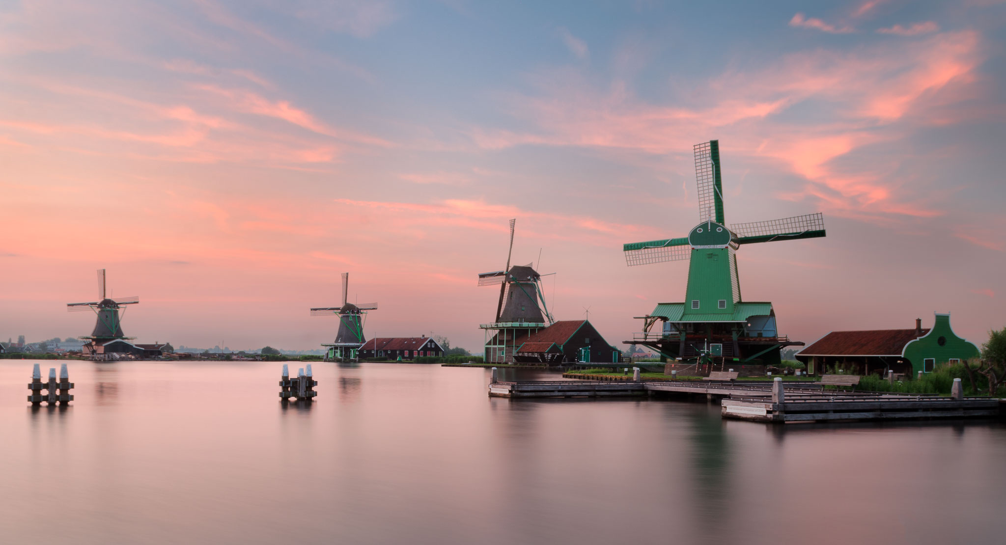 The mills of the Zaanse Schans, Netherlands