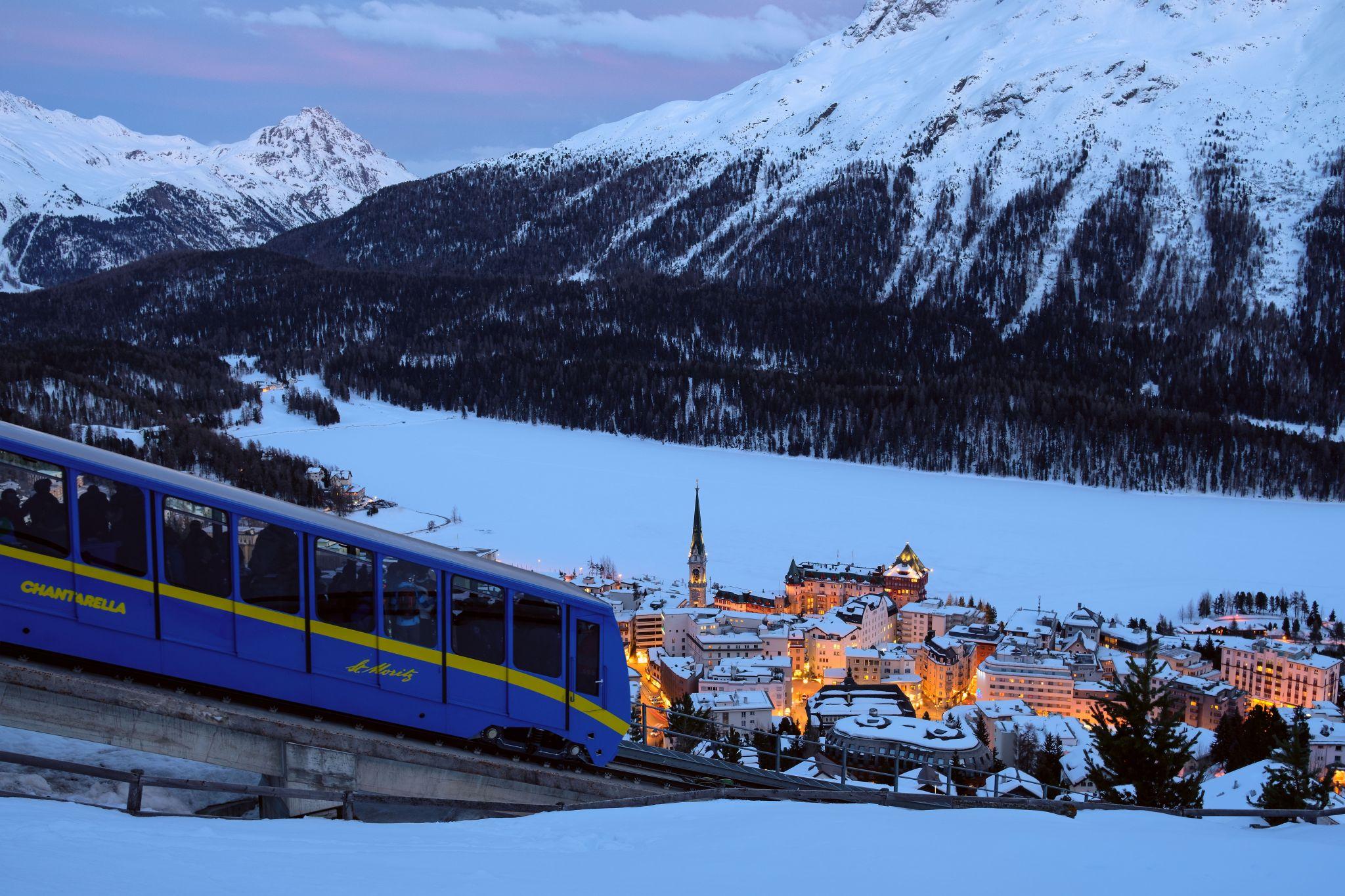 Finicular Chantarella-St.Moritz, Switzerland