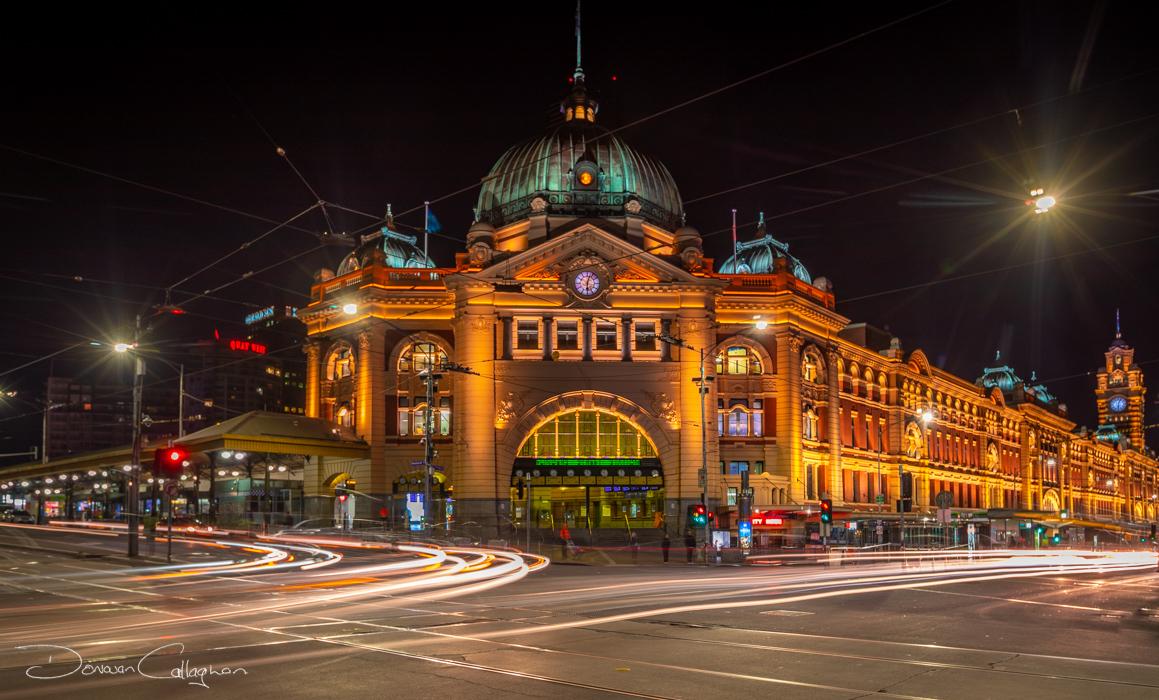 Flinders Street Station pre dawn Melbourne, Australia