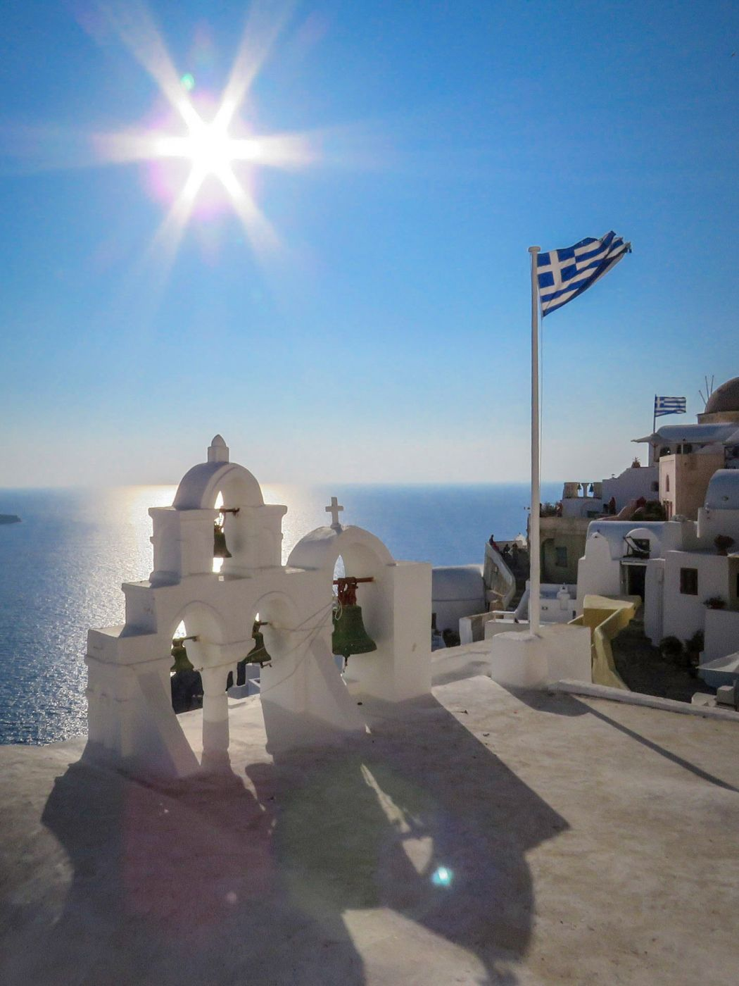 Four Bells Sunset Santorini, Greece