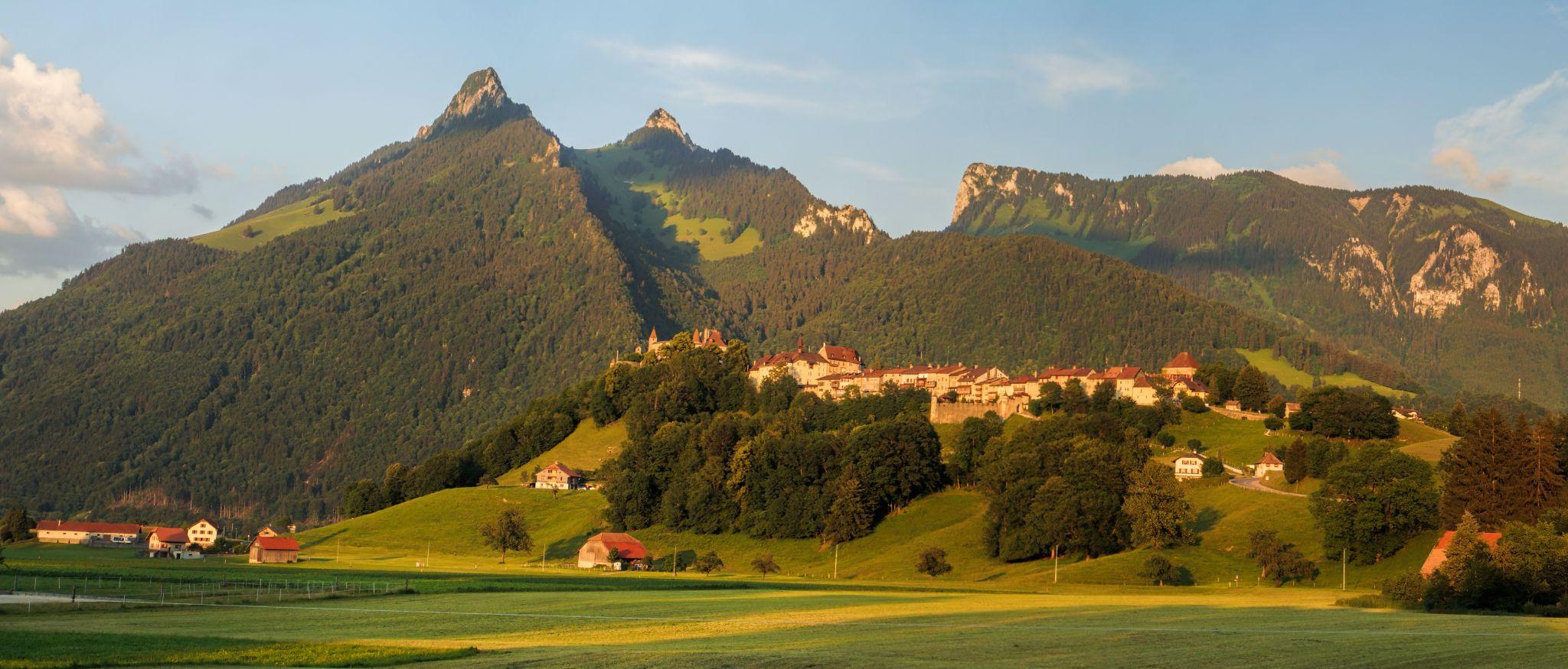 Gruyères from Route du Paquier, Switzerland