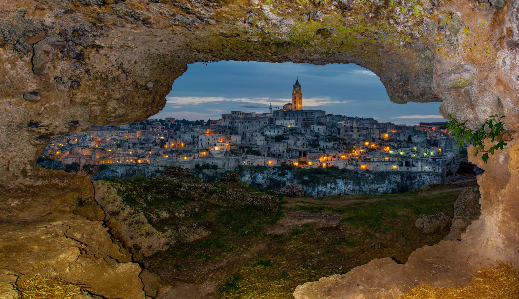 Matera from the Caves, Italy