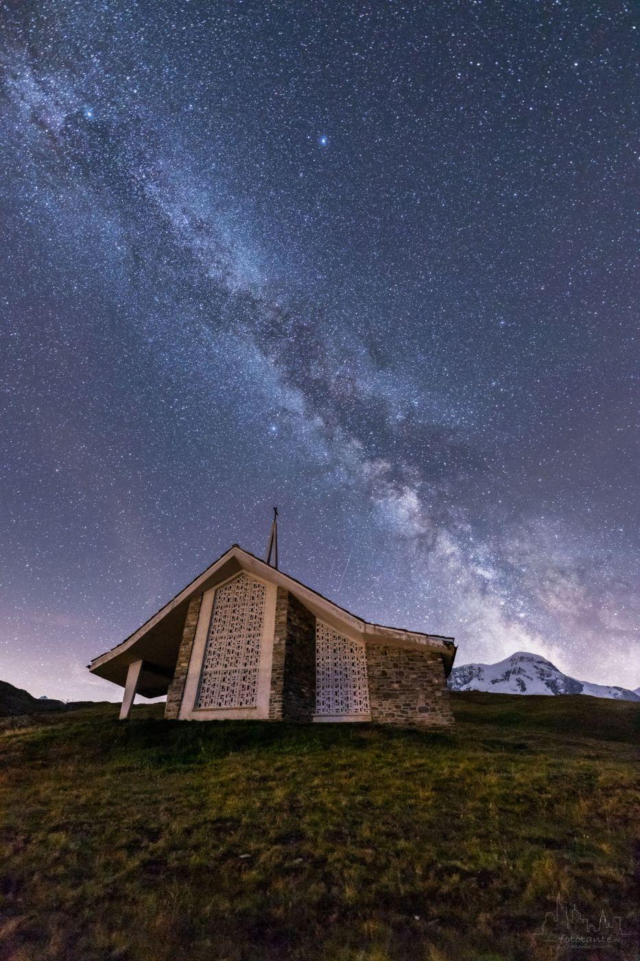 Milky way at Riffelberg, Switzerland