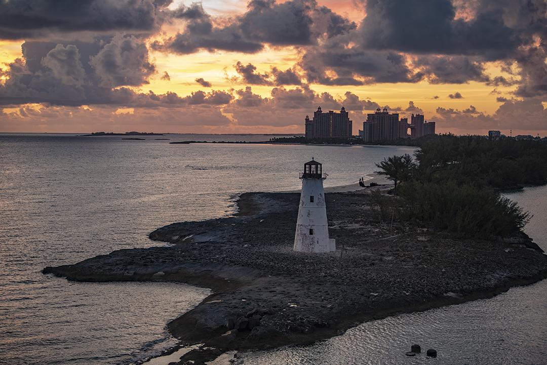 Nassau Port at Sunrise, Bahamas the