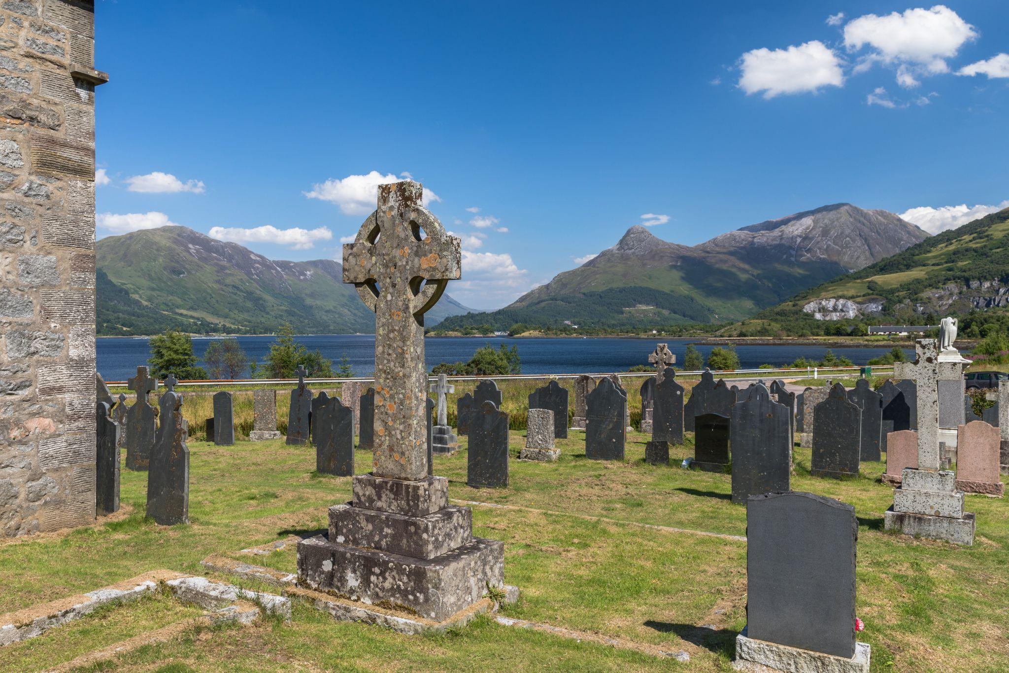 Pap of Glencoe from St. Johns Church, Ballachulish, United Kingdom