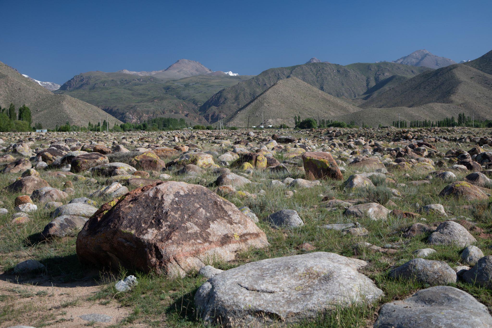 Petroglyphen in der Nähe von Tscholpon Ata, Kyrgyz Republic