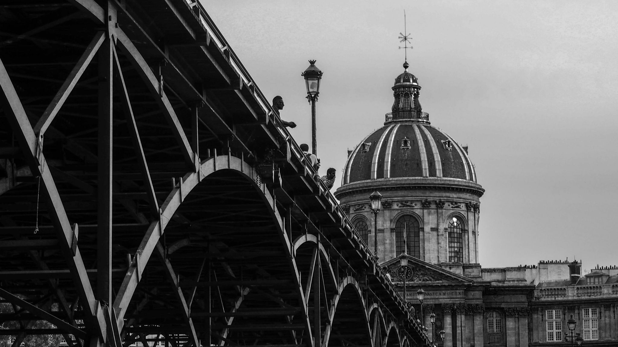 Pont des arts and institut de France, France
