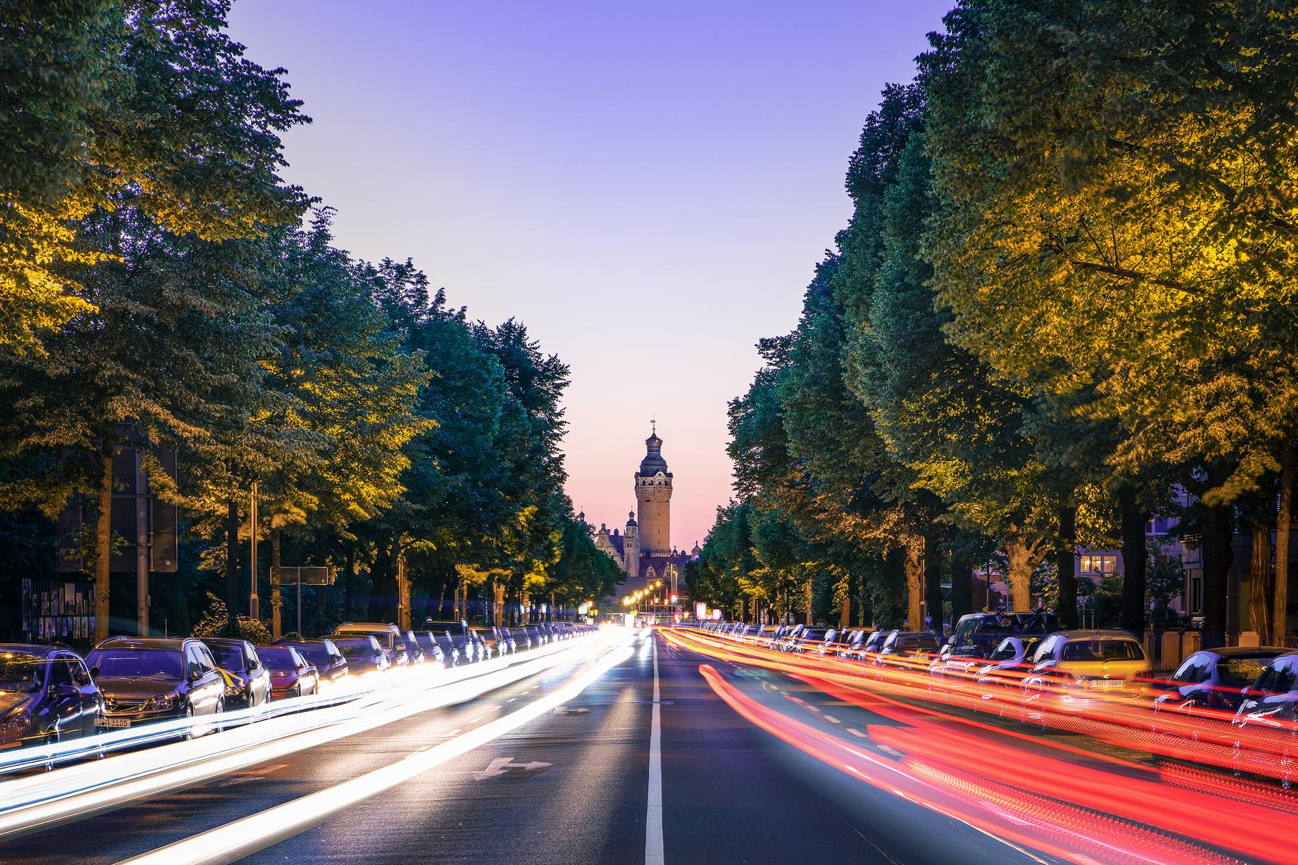 Rush Hour on Straße des 18. Oktober, Germany