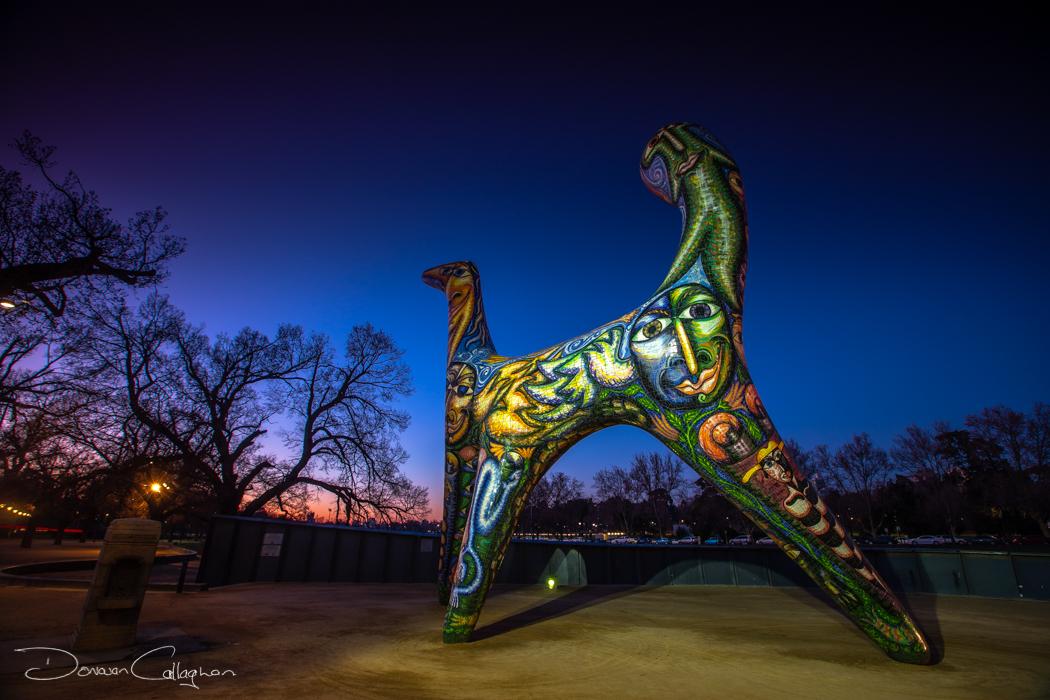 Sculpture on the banks of Yarra River Melbourne, Australia