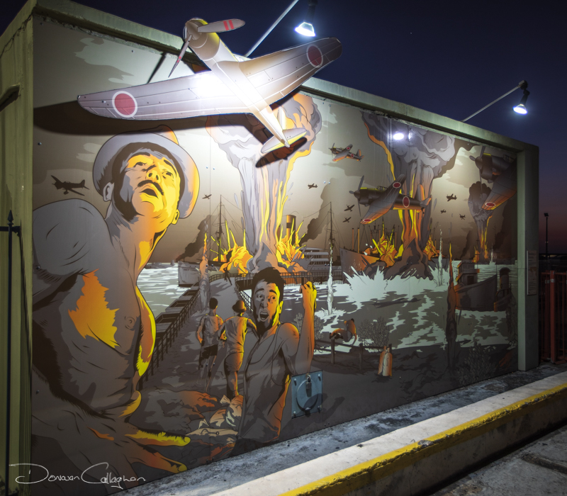 The Bombing of Darwin Mural, Australia