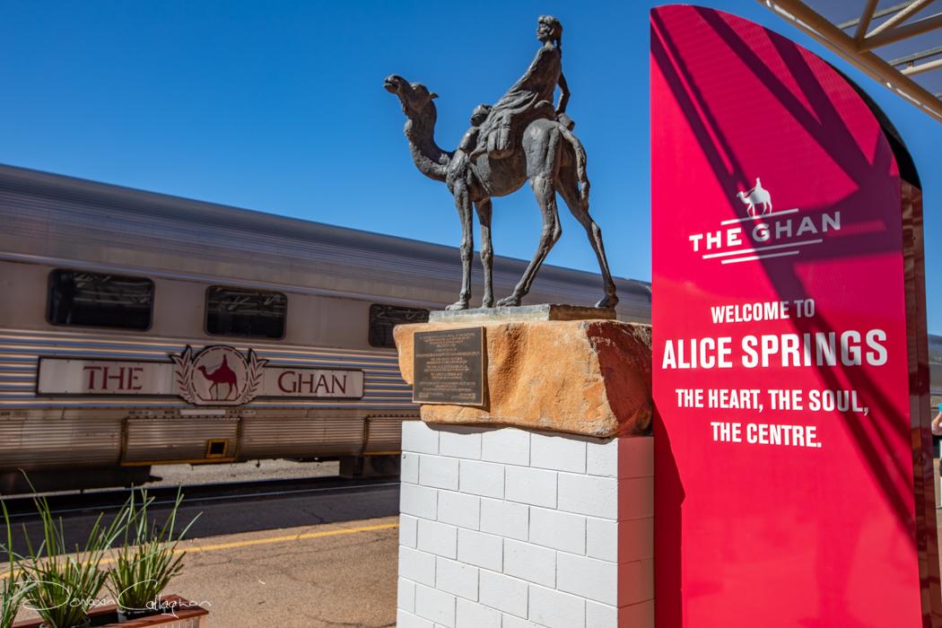 The Ghan Train trip Alice Springs NT, Australia