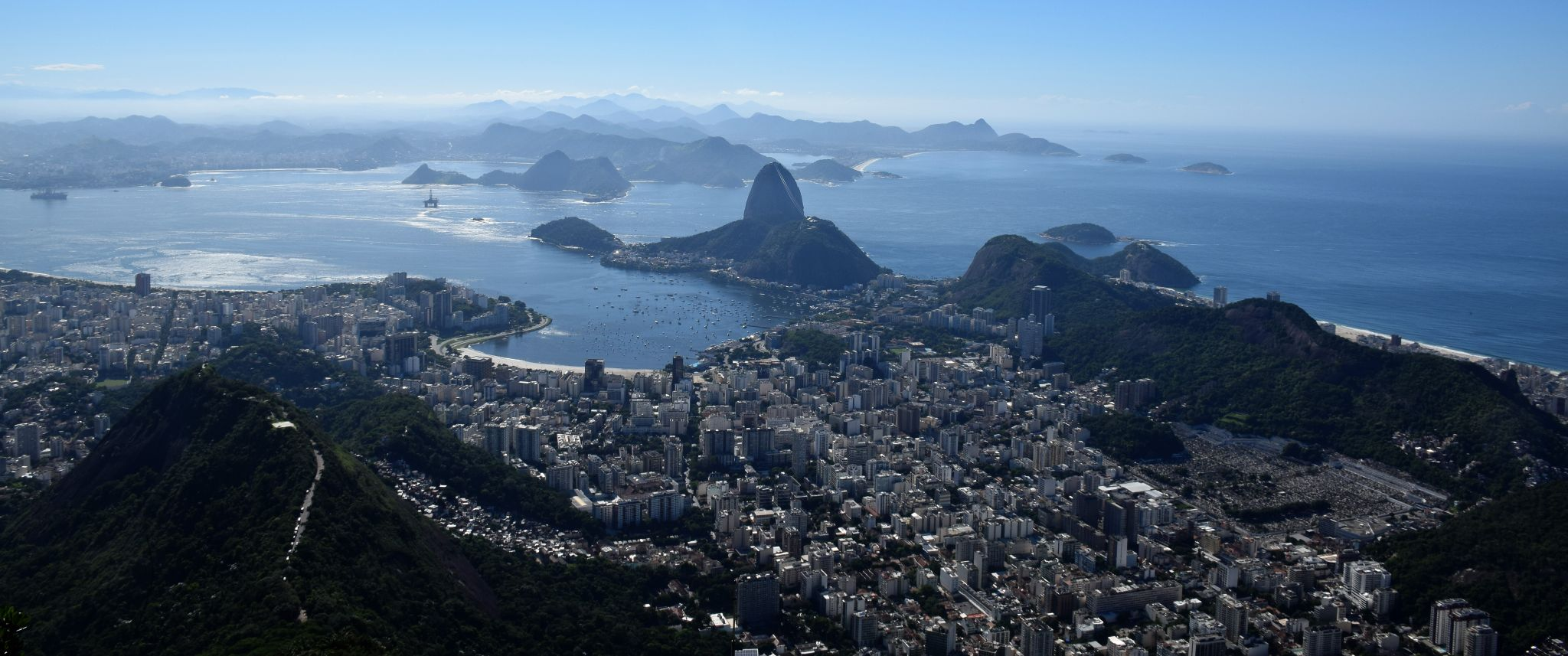View of the City from Cristo Redentor, Brazil