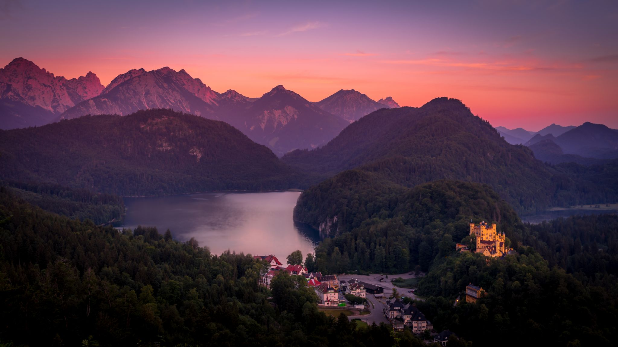 View on the Alpsee from Neuschwanstein, Germany