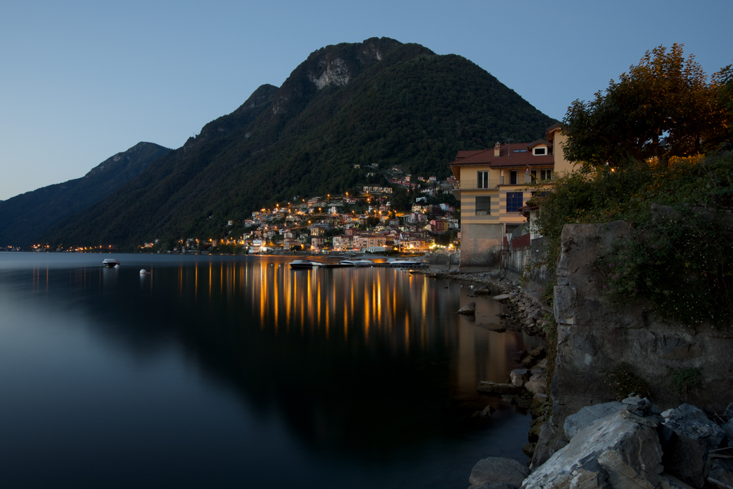 Argegno Lake Como just before dawn, Italy