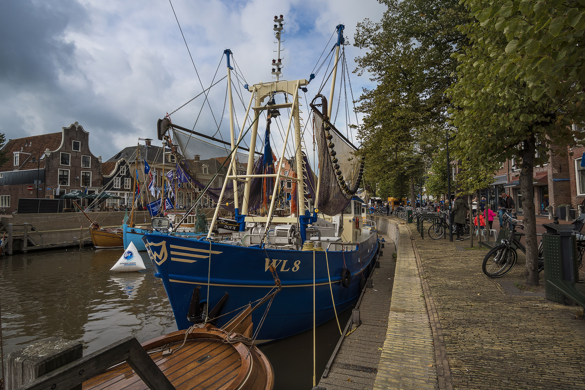 boats and ships in Dokkum, Netherlands
