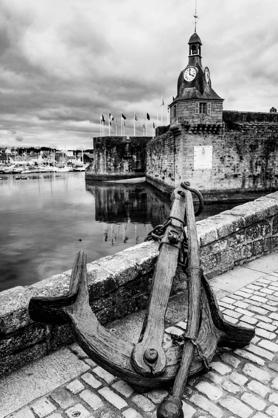Closed city of Concarneau., France