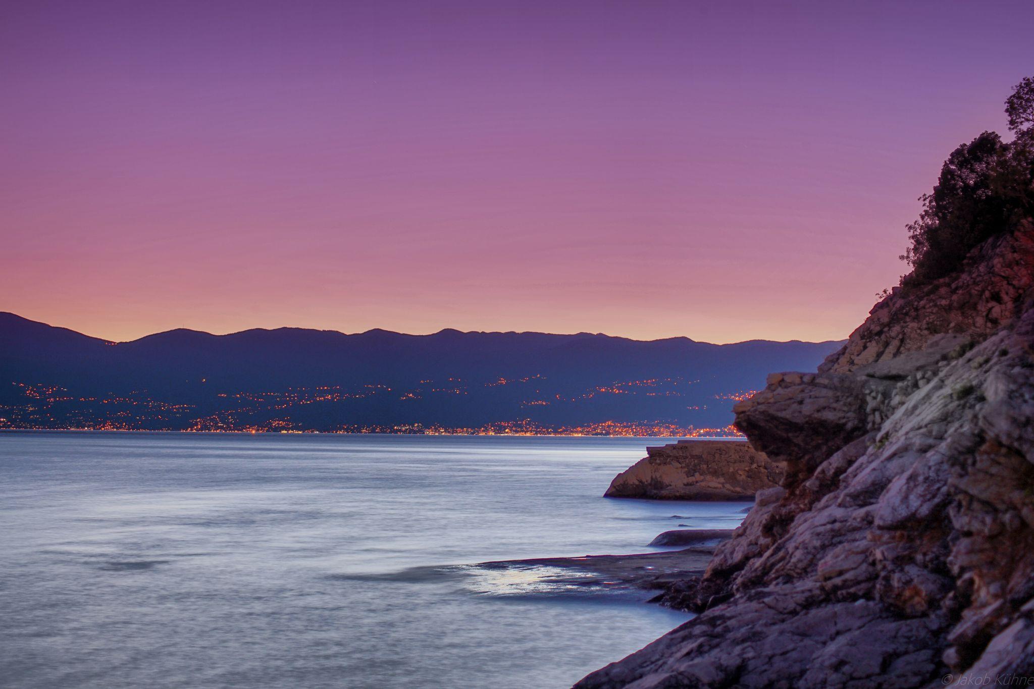 Coastline south of Rijeka, Croatia