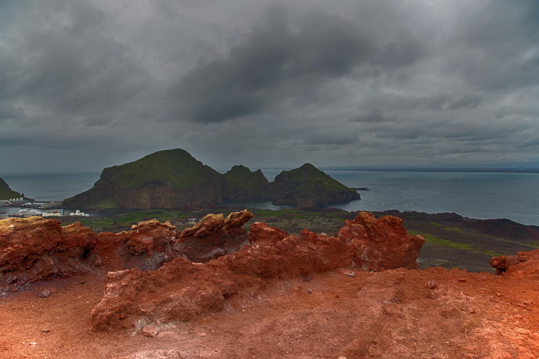 Eldfell crater, Iceland