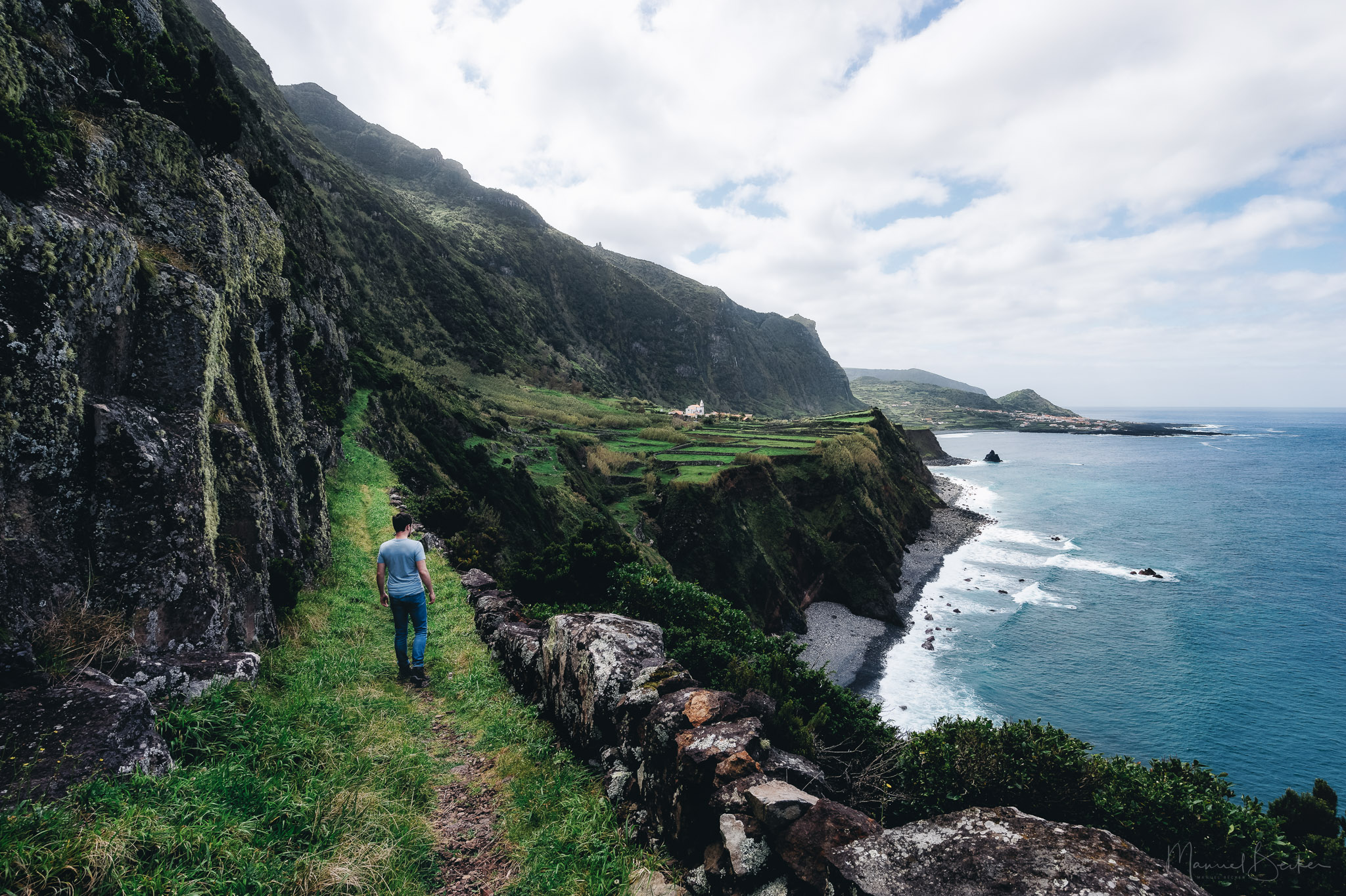 Hike towards Faja Grande, Flores, Azores, Portugal