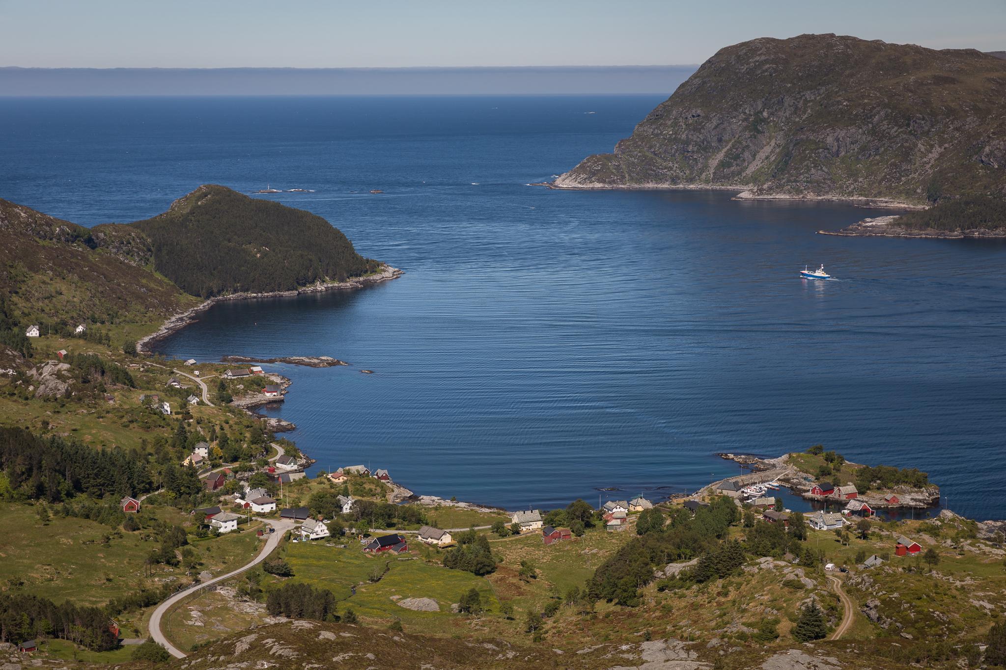 Husevåg overview from Mt. Blåfjellet, Norway