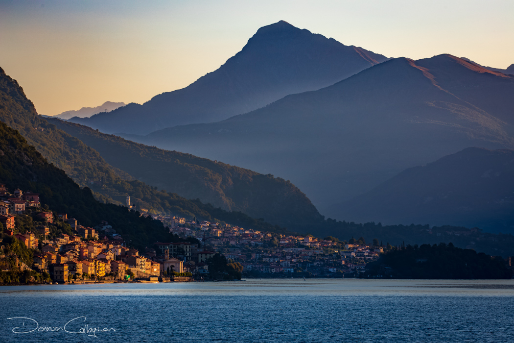 Lake Como first rays of daylight, Italy