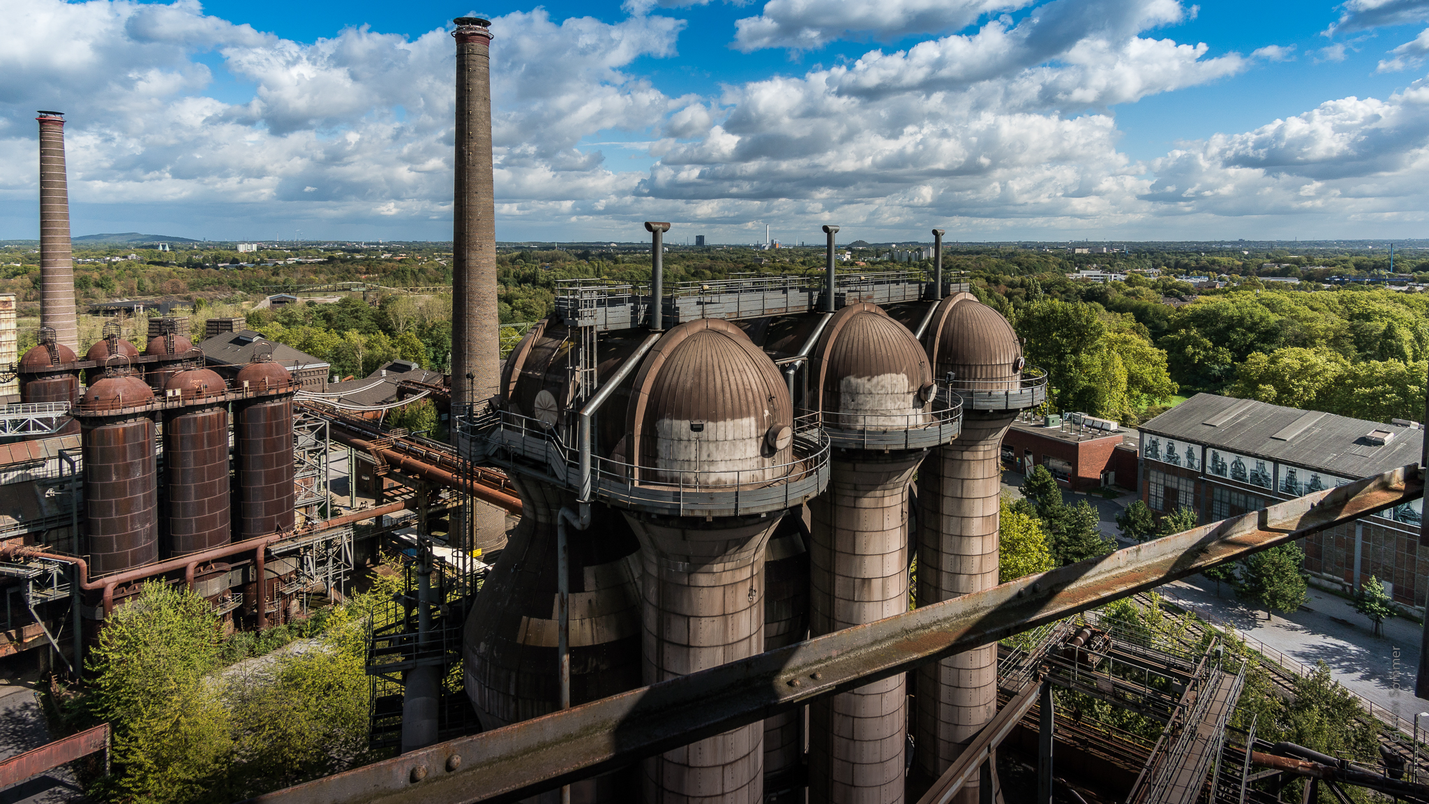 View from Furnace 5, Duisburg-Nord Landscape Park, Germany
