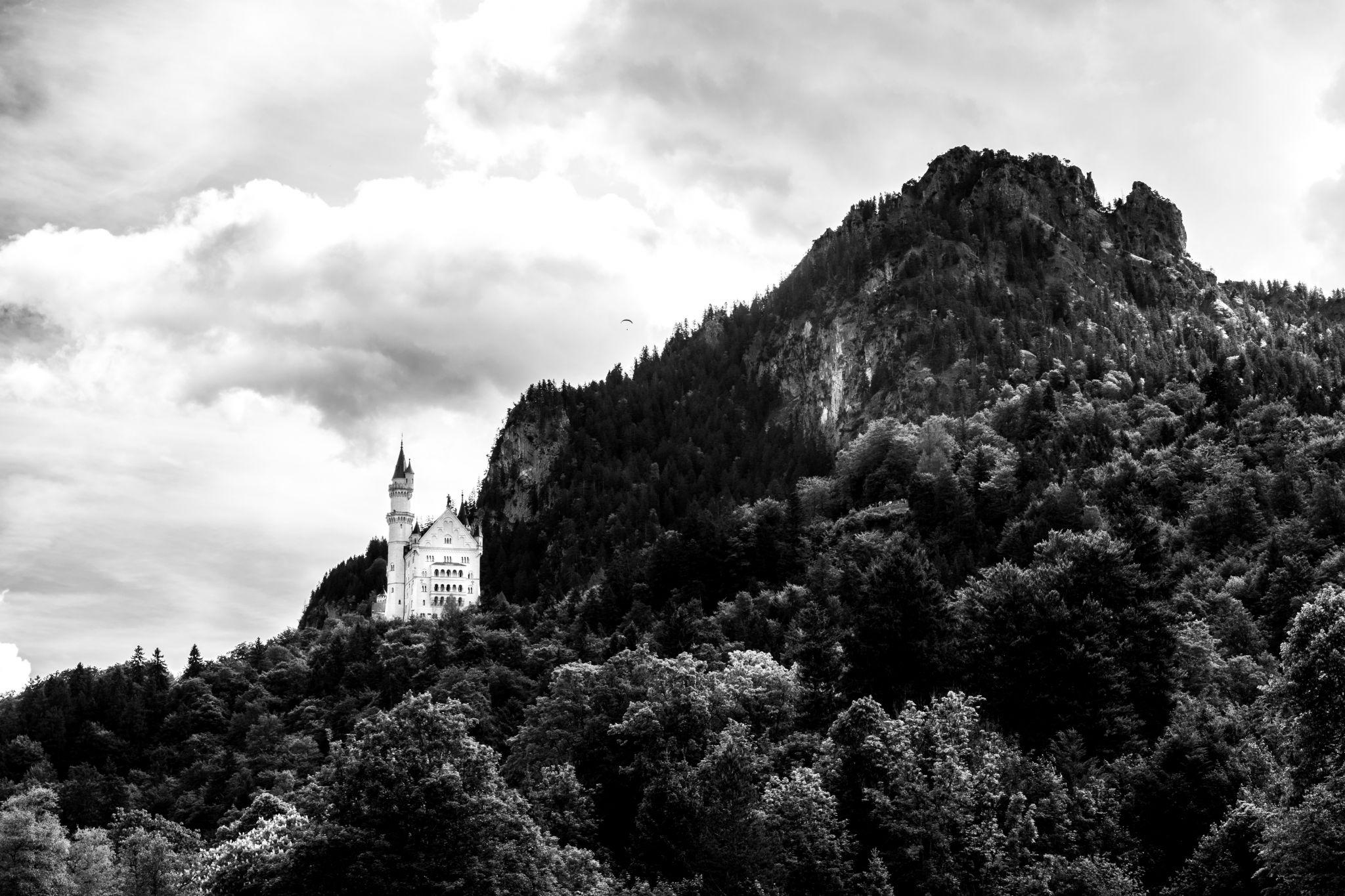 Lower view of Castle Neuschwanstein, Germany