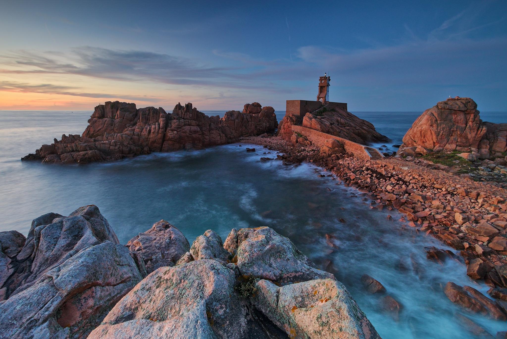 Paon Lighthouse, Brehat Island, France