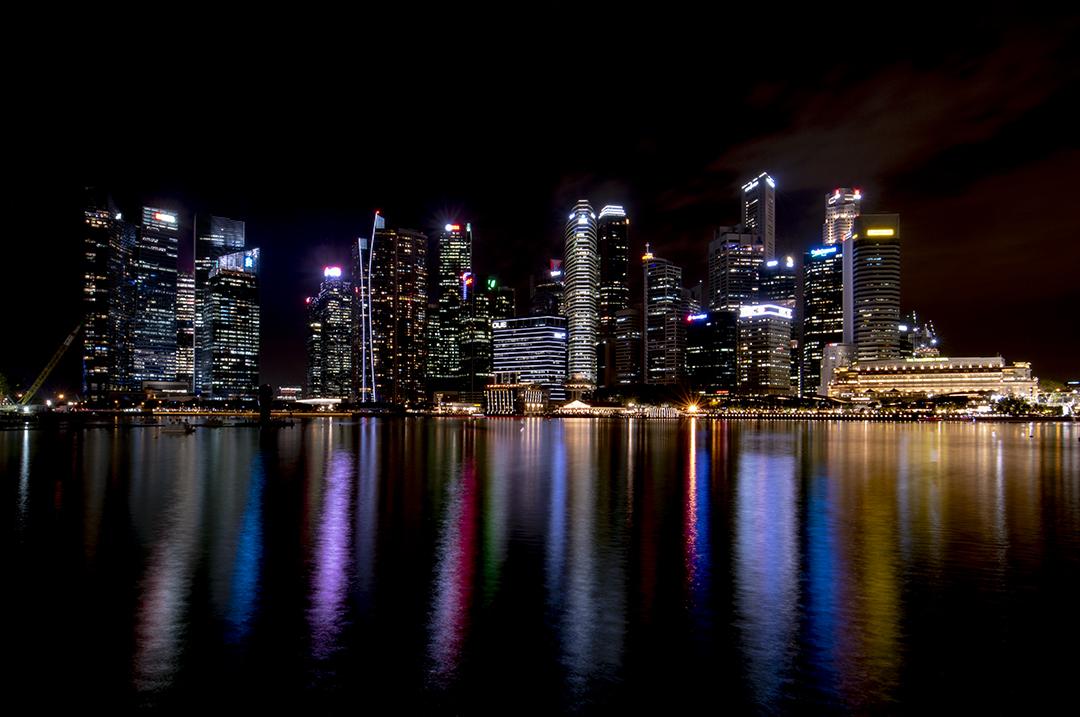 Singapore Downtown at Night, Singapore