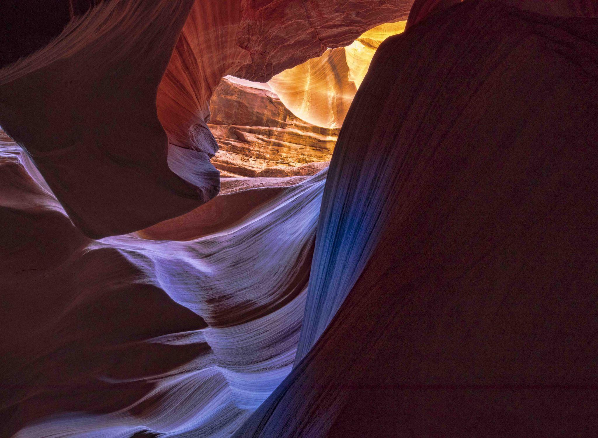 Slot Canyon on Navajo Reservation, USA