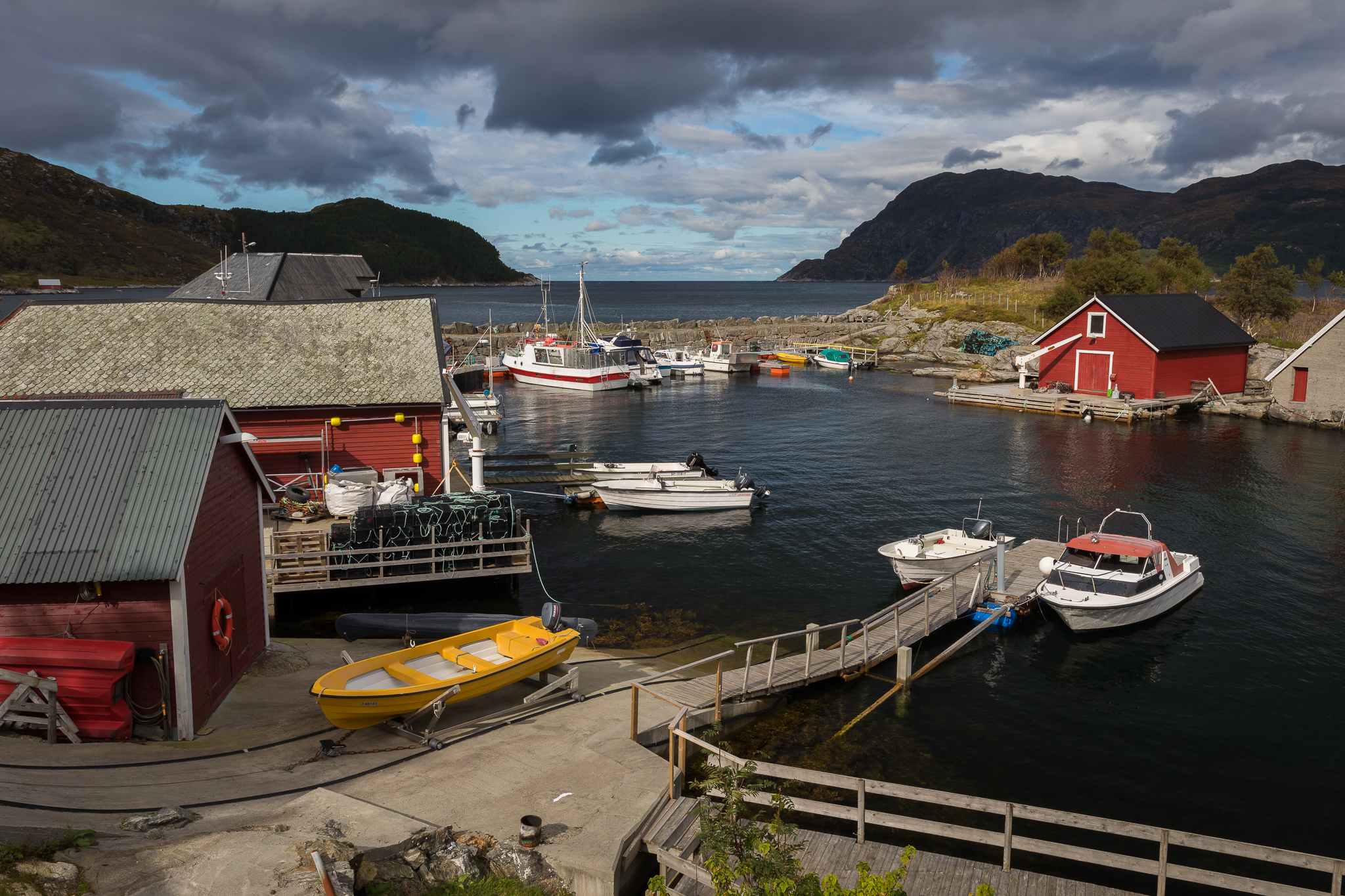 The harbor in Husevåg, Norway