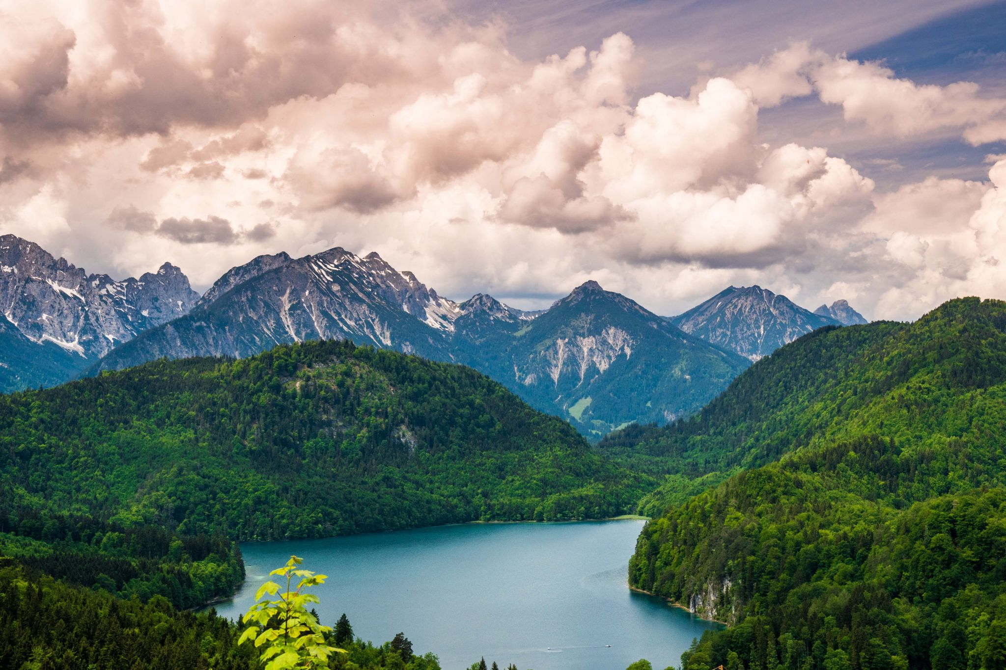 View of Lake Alpsee, Germany